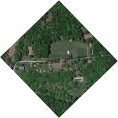 aerial photo of camp